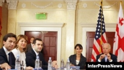 U.S. Vice President Joe Biden meets with representatives of the opposition and public organizations in Tbilisi