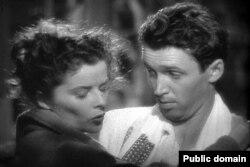 """Джеймс Стюарт и Кэтрин Хепберн в """"Филадельфийской истории"""". 1940"""