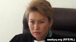Ақтөбе қалалық сотының судьясы Нәзира Аманқұлова. Ақтөбе, 20 қаңтар 2012 жыл.