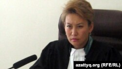 Cудья городского суда Актобе Назира Аманкулова.