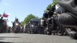 Російських «Нічних вовків» у Празі зустріли акціями протестів. Є затримані (відео)