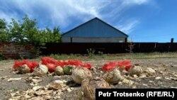 Қызылсуат ауылында көшеде жатқан қоқыс. Ақмола облысы, 10 маусым 2020 жыл.
