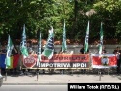 Noua Dreaptă se solidarizează cu NPD, 2014