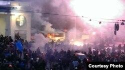 Столкновения с милицией в центре Киева 19 января
