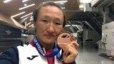 Aisuluu Tynybekova Bronze medalist of women free style wrestling world championships - Paris. France. 23.08.2017