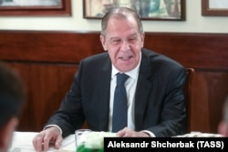 Russian Foreign Minister Sergei Lavrov in Milan on December 6.