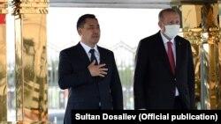 Садыр Жапаров и Реджеп Тайип Эрдоган в Анкаре