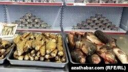 """Aşgabatdaky """"Türkmenbalyk"""" söwda merkezi"""