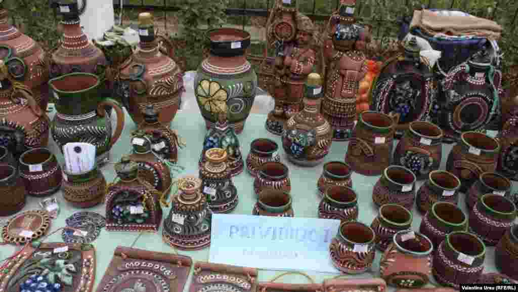 Some of the pottery comes from neighboring Romania.