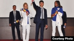 La ceremonia de prezentare a costumelor oficiale olimpice (Foto: Eduard Bazgu)