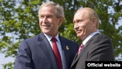 Буш ва Путин аз равобити вижа бо ҳам ифтихор мекарданд.