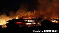 Пожар в замке Сюри