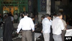 مسجد جامع زاهدان پس از انفجار