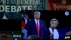 Хиллари Клинтон менен Дональд Трамп.