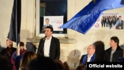 Градоначалникот на Струмица Зоран Заев и кандидат за уште еден мандат на митинг во струмичкото село Добрејци . Локални избори 2013