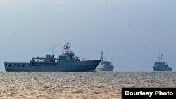 Корабли НАТО в акватории Одесского порта. Фото предоставлено пресс-центром Командования ВМС ВС Украины