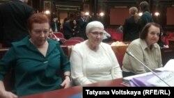 Истицы – потомки репрессированных – на заседании Конституционного суда России в Санкт-Петербурге