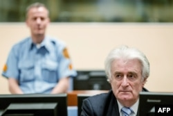 Bosnian Serb wartime leader Radovan Karadzic was sentenced to 40 years in prison by the International Criminal Tribunal for the Former Yugoslavia (file photo)
