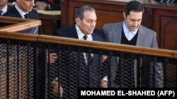 حسنی مبارک رئیسجمهور اسبق مصر در دادگاه روز چهارشنبه ۲۶ دسامبر ۲۰۱۸.