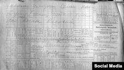 """Альберт Исмаил тарафыннан """"ВКонтакте"""" битендә куелган 1917 елгы документ"""