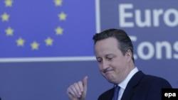 Дэвид Кэмерон по окончании переговоров в Брюсселе 19 февраля