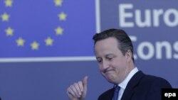 Britaniýanyň premýer-ministri Dawid Kameron, Brussel, 19-njy fewral, 2016