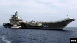 Російський важкий авіаносний крейсер «Адмірал Кузнєцов» (архівне фото)