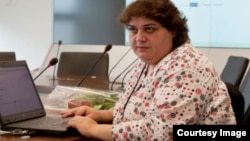 Хадиджа Исмаилова в редакции Азербайджанской службы нашей радиостанции