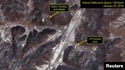 Снимок со спутника северокорейского космодрома
