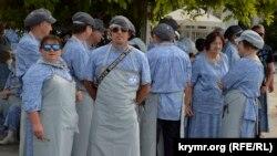 Церемония принятия присяги дворника, Ялта
