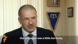 Mejlis Chief Criticizes Member's 'Hasty' Move To New Crimean Legislature