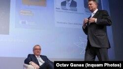 Jean-Claude Juncker cu Klaus Iohannis, la 9 mai 2019