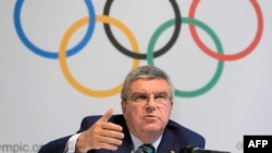 "International Olympic Committee President Thomas Bach said on June 21 that there were ""serious doubts"" about the presumption of innocence for Russian and Kenyan athletes accused of using illegal performance-enhancing drugs."