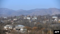 Azerbaijan -- An aerial view of the Azeri village of Alibeyli, February 17, 2015
