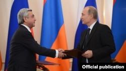 Президенти Вірменії і Росії під час зустрічі у Москві, 3 вересня 2013 року