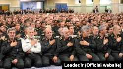 Qasem Soleimani (center) had been in charge of Iran's shadowy Quds Force since 1997. (file photo)