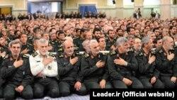 Keşikçiləri Korpusunun komandirləri Ali dini lider Ali Khamenei ilə görüşdə - 2015