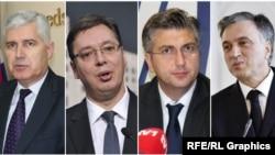 Dragan Čović, Aleksandar Vučić, Andrej Plenković i Filip Vujanović