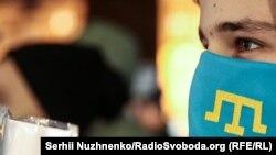 «Украина, помни: Крым оккупирован»: акция в центре Киева (фотогалерея)