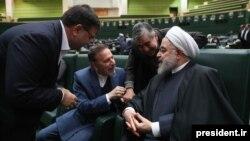 عکسی از حضور حسن روحانی در مجلس هنگام تحویل بودجه ۱۳۹۹
