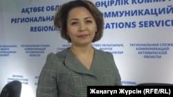 Ләззат Оразбаева, Ақтөбе облыстық білім басқармасының басшысы. Ақтөбе, 13 наурыз 2018 жыл.