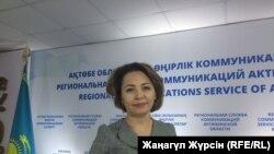 Руководитель управления образования Актюбинской области Ляззат Оразбаева. Актобе,13 марта 2018 года.