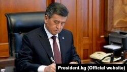 Президент Сооронбай Жээнбеков.
