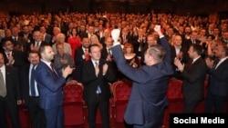 Претседателот на ВМРО-ДПМНЕ Христијан Мицкоски на прославата на 23 Октомври