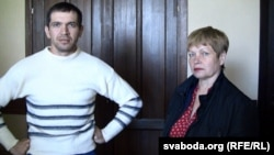 Віктар Рубцоў і Ядвіга Рубцова, сын і жонка Юрыя Рубцова