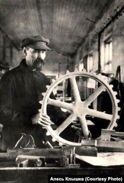 Ёсіф Голубеў, менскі завод Варашылава, 1935 год