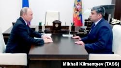 Президент РФ Владимир Путин и врио главы КБР Казбек Коков, архивное фото
