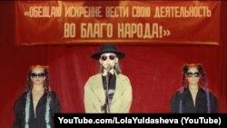 Скриншот видеоклипа певицы из Узбекистана Лолы Юлдашевой.