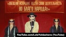 Лола Йўлдошева суратга олган клипдан скришот