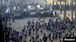 პოლიციისა და დემონსტრანტების დაპირისპირება ეგვიპტეში